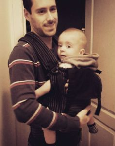 M. Louis en portage avec papa